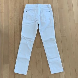 7 for all mankind white skinny jeans size 8